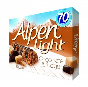 Alpen Light Chocolate & Fudge 5X19g