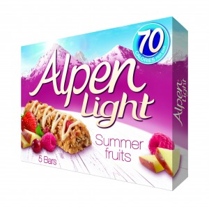 Alpen Light Summer Fruits 5X19g